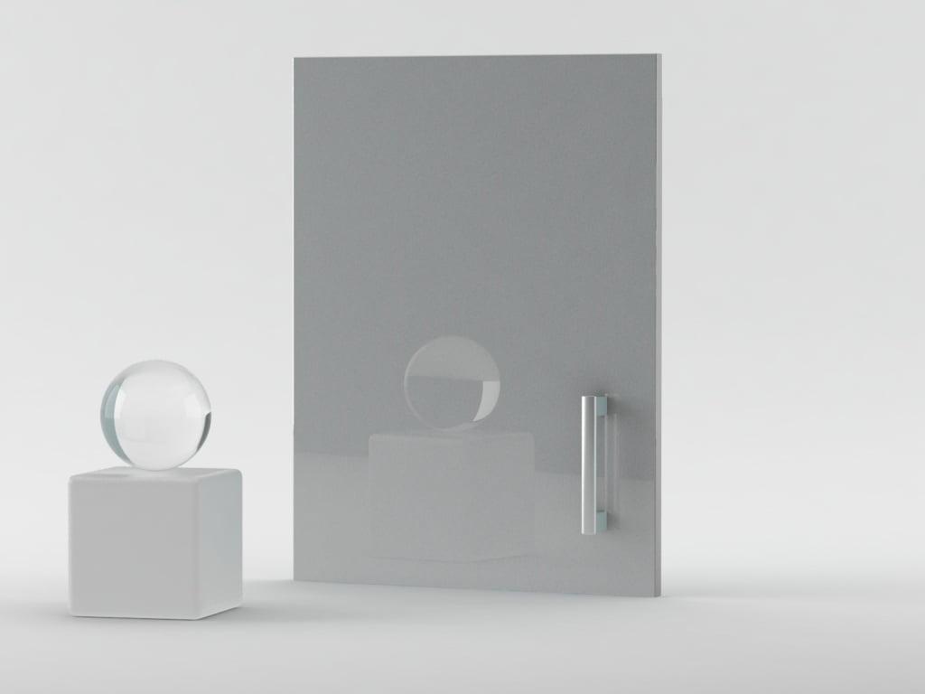 front wysoki połysk srebrny metalic