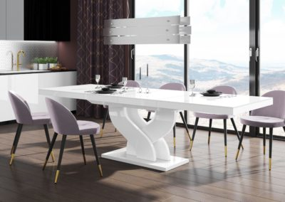 bella biały połysk stół rozkładany-min