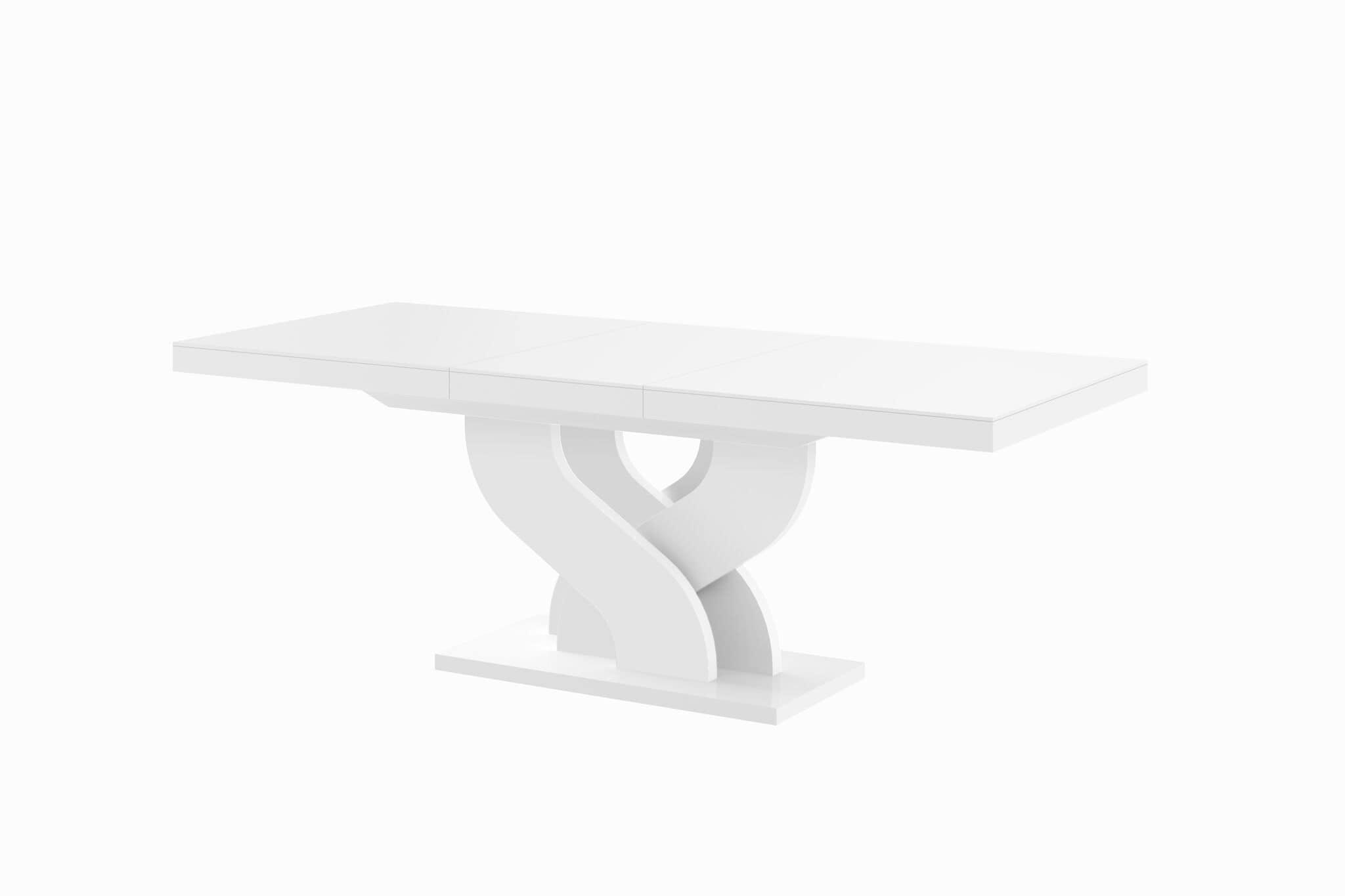 stół hubertus bella biały połysk rozkładany białe tło 210-min